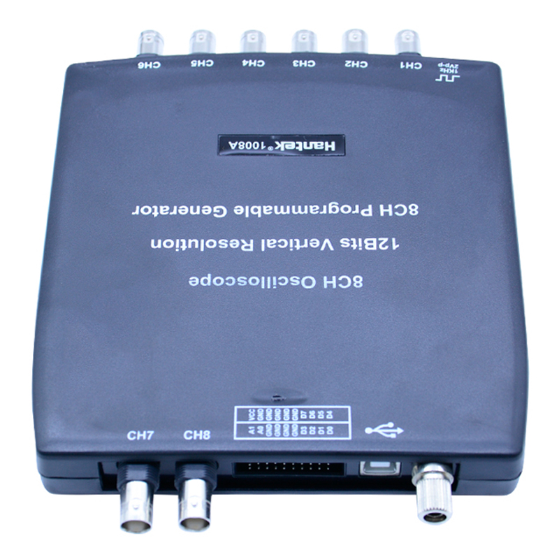 1008C Automotive Oscilloscope 8 Channels  2.4MSa/s Programmable Generator Digital Multimeter PC Storage USB Diagnostic-tool pc 8ch automotive diagnostic oscilloscope daq programmable generator 1008b