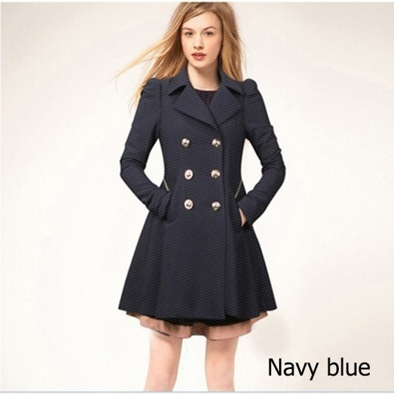 ZOGAA Women Long   Trench   Coat Ladies Autumn Solid Color Double Breasted Warm Windbreaker Female Causal Long   Trench   Coat 2019 Hot
