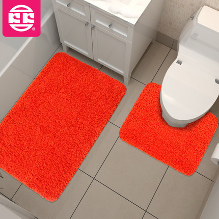 2pcs Toilet Bath Mat Set 50 80cm And 40 50cm High Quality Solid. Orange Bath Rug Set   Rugs Ideas