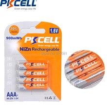 4 pces pkcell nizn aaa bateria 1.6v aaa 900mwh nizn em baterias recarregáveis de alta qualidade para o jogo do cd da câmera digital