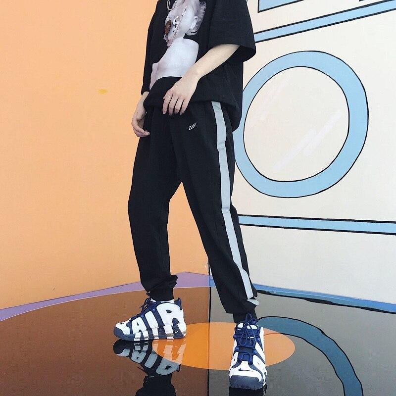Hombres Jogger Negro Pantalones Pelo Nuevos blanco Holgado Hip Moda Estilista Reflector Hop De Disfraces Gd 2018 Singer Casual Ropa fqO7w5T