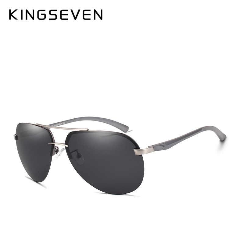 4dffb04257bc ... KINGSEVEN BRAND DESIGN Aluminum Pilot Polarized Sunglasses Men Vintage  Metal Frame Driving Sunglasses Male Goggles ...