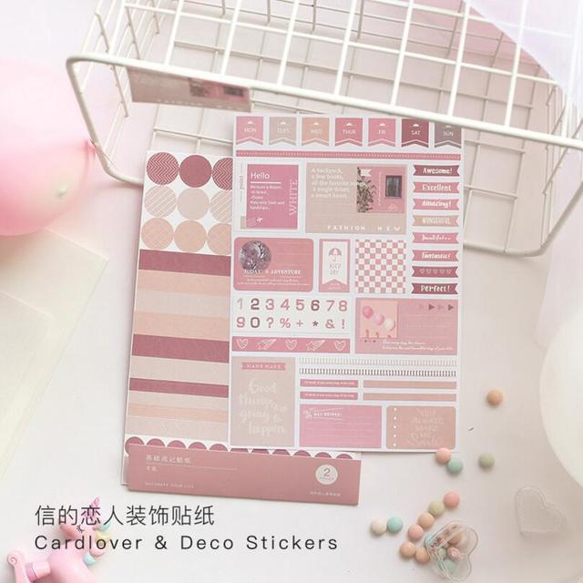 2 stks/partij Leven Serie Vintage Kalender Week nummer Index Decoratieve Dagboek Leuke Stickers Scrapbooking Label Stickers Briefpapier