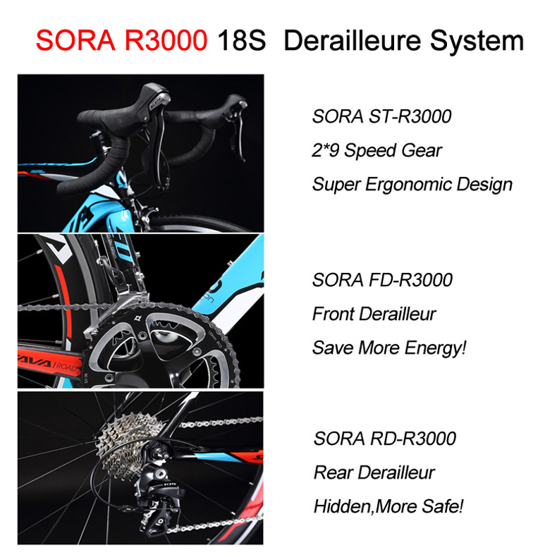 HTB1c9PlbjDuK1Rjy1zjq6zraFXaV SAVA Road Bike 700C Carbon Road Bike T700 Carbon Frame+fork Bicycle Road Speed Bike Racing with SHIMANO SORA bicicleta carretera