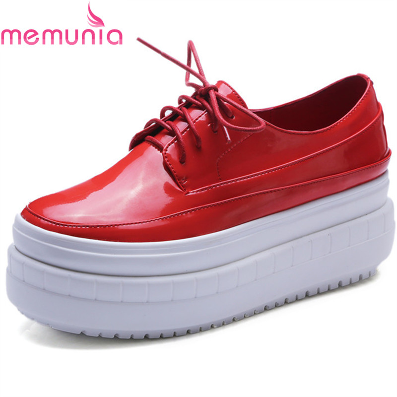 MEMUNIA new arrive flat platform solid slip-on women fashion shoes fashion spring autumn flats shoes  comfortable spring autumn women loafer pointed toe pearl comfortable women flats shoes slip on fashion pu leather women s flat with shoes
