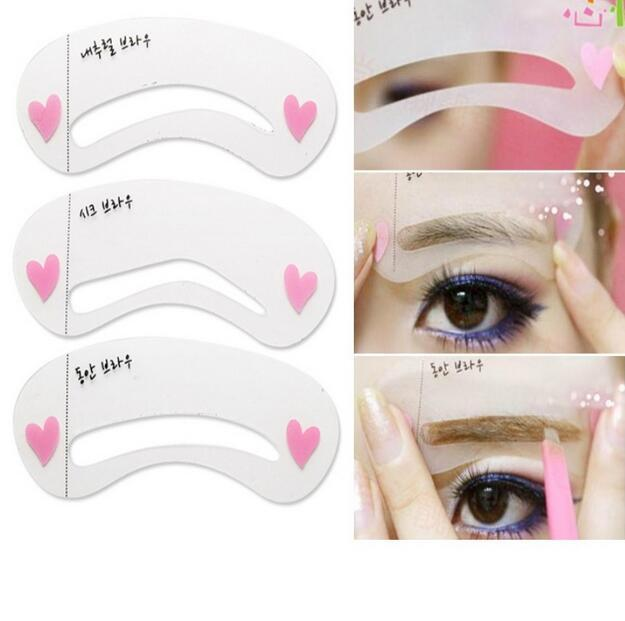 3Pcs/set Thrush Card Threading Word Eyebrow Makeup Tools Threading Artifact Thrush Aid Card Eyebrows Mold Cosmetic