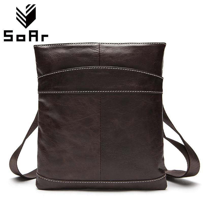 SoAr Hot Sale Genuine Leather Men Bag Messenger Bags Casual Men'S Shoulder Bag Crossbody For Men Designer Handbag High Quality