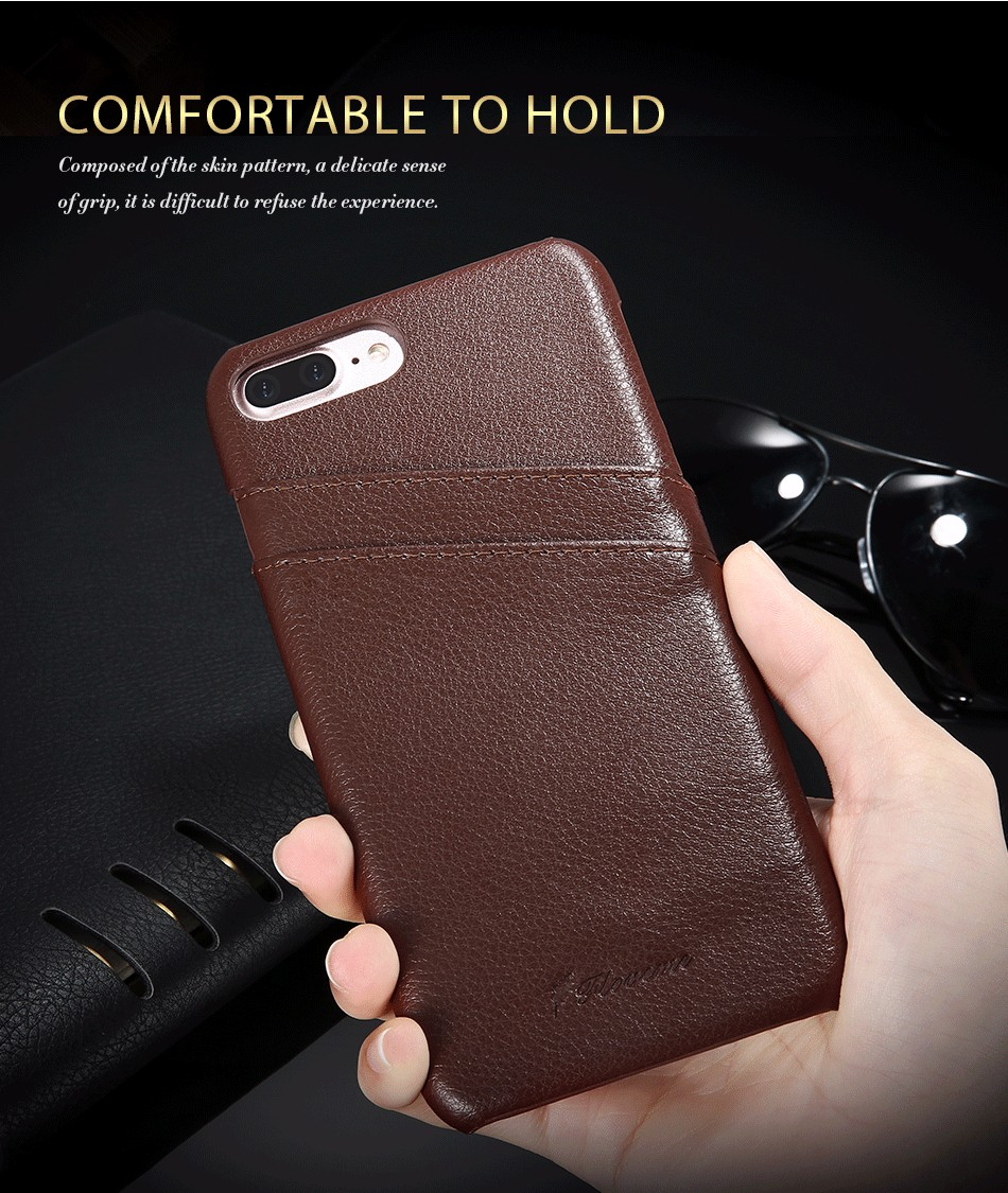 genuine leather card slot case for iPhone 6 6s Plus 7 7 Plus (15)