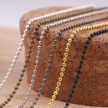 20×2.4 ملليمتر الأزياء قلادة الكرة الخرزة سلاسل للقلادة diy صنع المجوهرات اكسسوارات 70 سنتيمتر 27.5 بوصة
