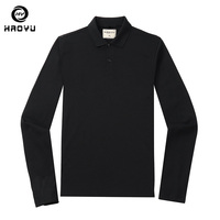 Polo Shirt Men Brand Clothing Solid Tshirt Full Sleeves Cassual Anti Wrinkle Comfortable 4 Color Choices