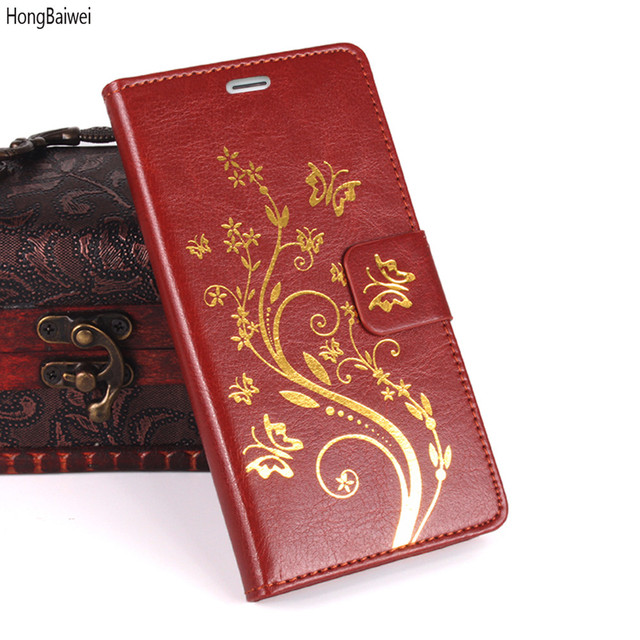HongBaiwei cases For fundas Oukitel C5 Pro case 5.0 inch PU Leather Flip Wallet Cover Phone Bags Cases For Oukitel C5 Pro coque