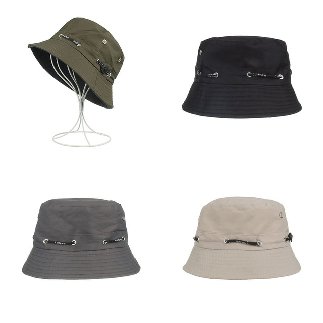 Men Women Fashion Adjustable Cool Bucket Hat Panama Solid Flat Cap Snapback  Cotton Hip hop Rap Sun Hat 2019 Trendy Accessories d2b009074a
