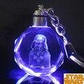 Colorido Cristal Frozener LED Llavero Darth Vader de Star Wars Stormtrooper BB-8 Droid Robot Llavero Iluminado Llavero ZKSWCP