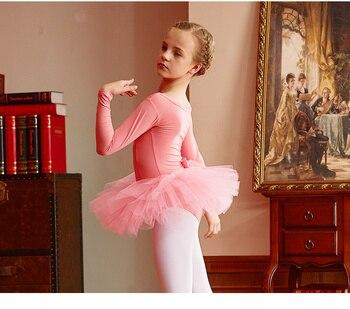 купальник гимнастика с длинным рукавом | Длинные рукава балетное платье для девочек балетное платье-пачка для девочек купальник гимнастика одежда балетные платья для девочек