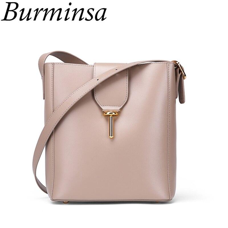 6f75c510653e Burminsa элегантные женские сумки из натуральной кожи 2 комплекта  композитные сумки женские сумки на плечо высокого