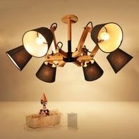 Solid Wood Living Room Pendant Lights Modern Living Room Master Bedroom Original Wooden Lamps Pendant Lamps