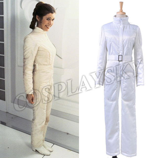 94d028937c30 Star Wars Princess Leia Organa White Jumpsuit Cosplay Costume Woman Dresses  Halloween Uniform Set