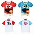 2017 Tops Roupas Tee Moda Verão 2-6A Criança Novidade Bebê Crianças Meninos Camisetas Crianças de Rua Filhós Dos Desenhos Animados t-shirts de Impressão
