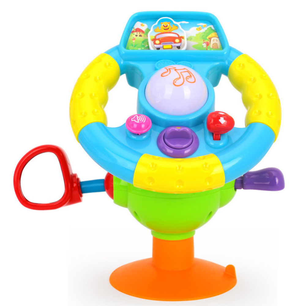 Early Education Baby Toy Electronic Steering Wheel Baby Musical Early Learning Driving Mini Simulation Toy For Children