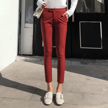 Summer Korean fashion trousers elegant Slim High waist Leggings pencil