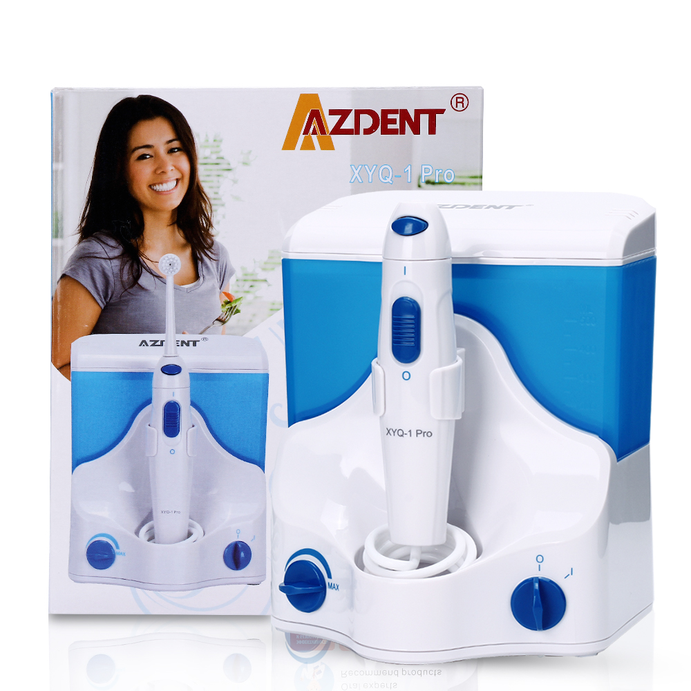 AZDENT Electric Oral Irrigator Dental Flosser Power Floss Water Jet Teeth Cleaning Machine Portable Irrigator azdent fashion 4 modes portable fold electric oral irrigator usb charging water dental flosser rechargeable 200ml 5 jet tips