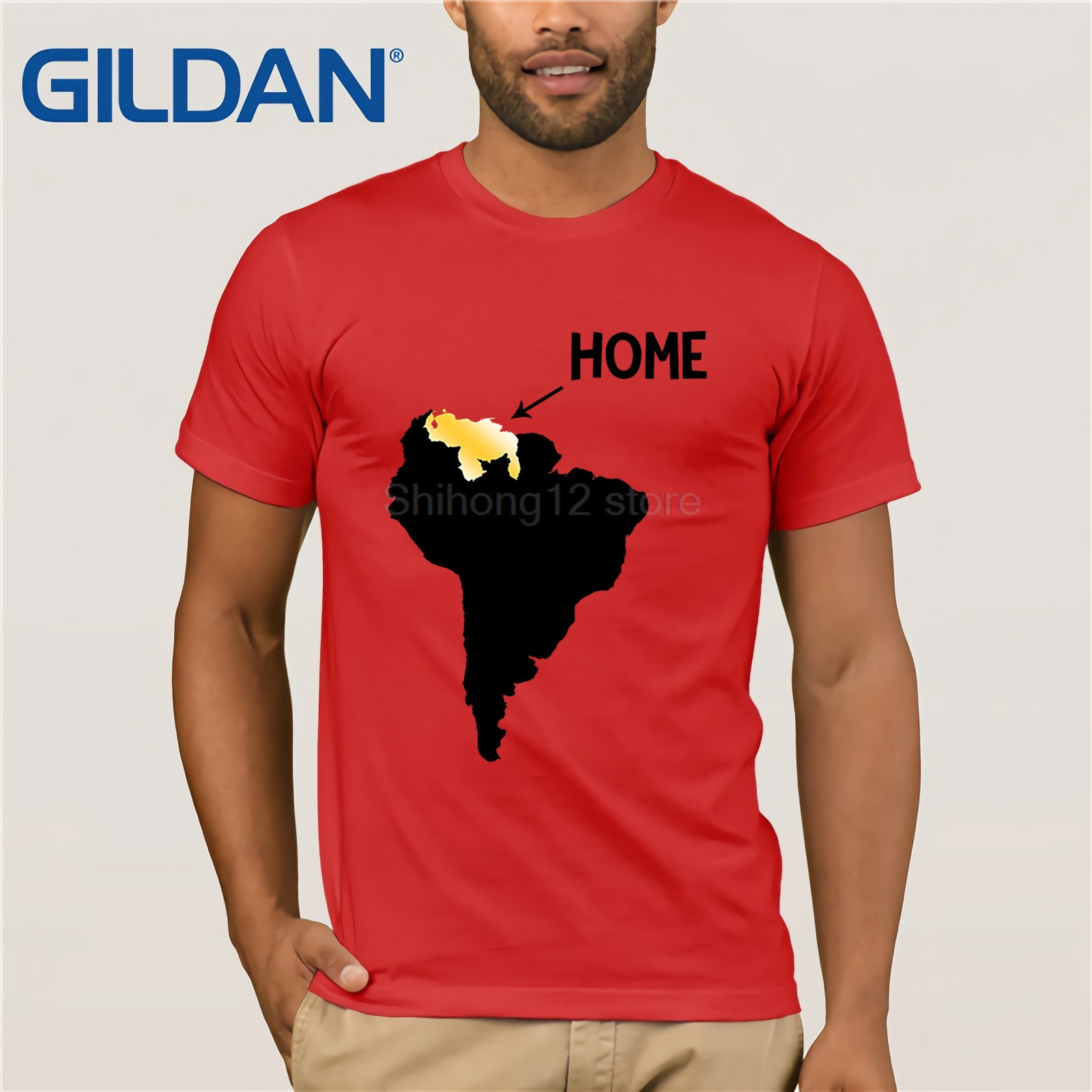 GILDAN Venezuela Home Map Gold T Shirt No More Dictatorship Love My Mother 39 s Day Ms T shirt in T Shirts from Men 39 s Clothing