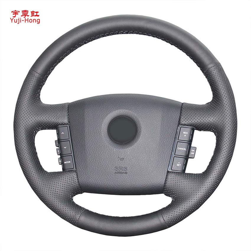 Yuji-Hong Case Steering-Wheel-Covers Mohave Hand-Stitched Artificial-Leather For Car