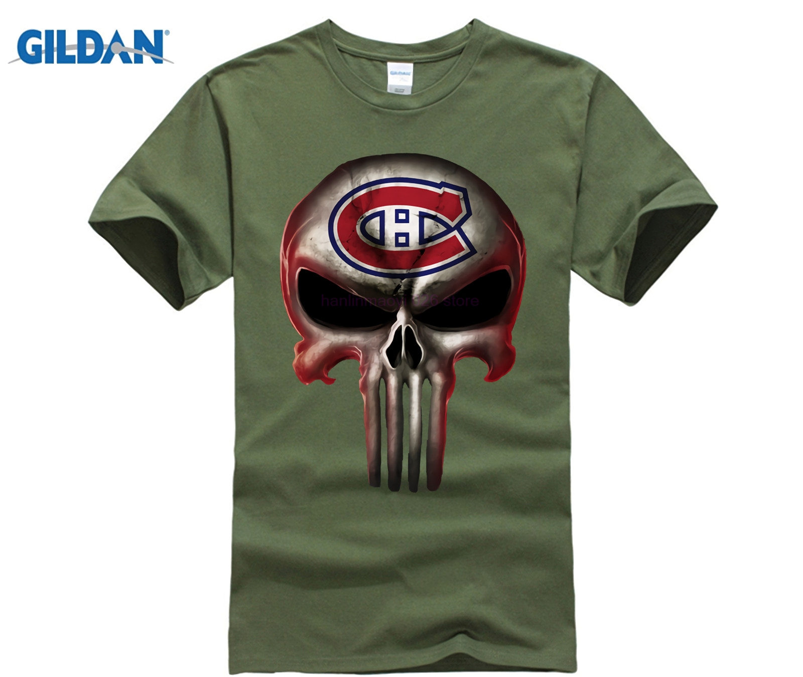 Montreal Canadiens The Punisher Mashup Ice Hockey Shirts in T Shirts from Men 39 s Clothing
