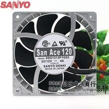Для Sanyo 9SG1212P1G06 9SG1212P1G03 12 см вентилятор для высокой температуры скорость вентилятора насилие 12038 12V 4A мощный 120*120*38 мм