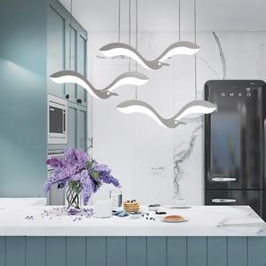 Image 3 - Creativiteit Moderne Led Hanger Kroonluchter Verlichting Voor Eetkamer Keuken Receptie Schorsing Armatuur Suspendu Led Kroonluchter