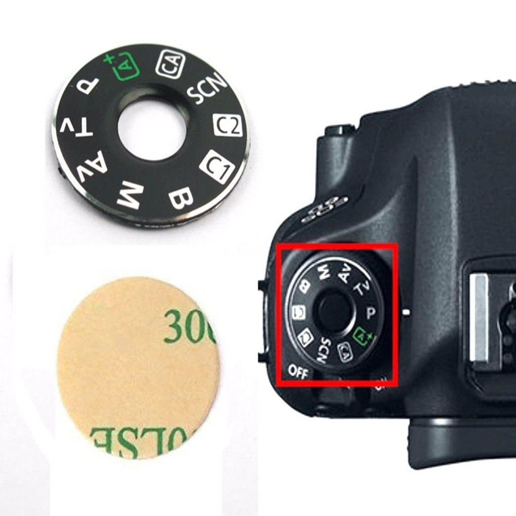 1 Pack Dial Mode Plate Interface Cap Cover Tape for Canon EOS 6D Digital SLR Repair Fix Part Camera Black in Shutter Release from Consumer Electronics