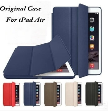 Factory Sale Top Quality Ultra-thin 1:1 Original Official Design Smart Flip Case For iPad 5 Air Sleep/Wakeup Cover Case