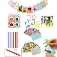 4 Colors Filter + Stickers + Photo Frame For Fujifilm Instax Mini 8, 8+, 7s, 9, Hello Kitty Instant Camera & Photo Paper Films