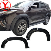 matte black fender flare For Toyota Fortuner AN160 HILUX SW4 2015 2016 2017 Car Flares Accessories car part new Mudguards YCSUNZ