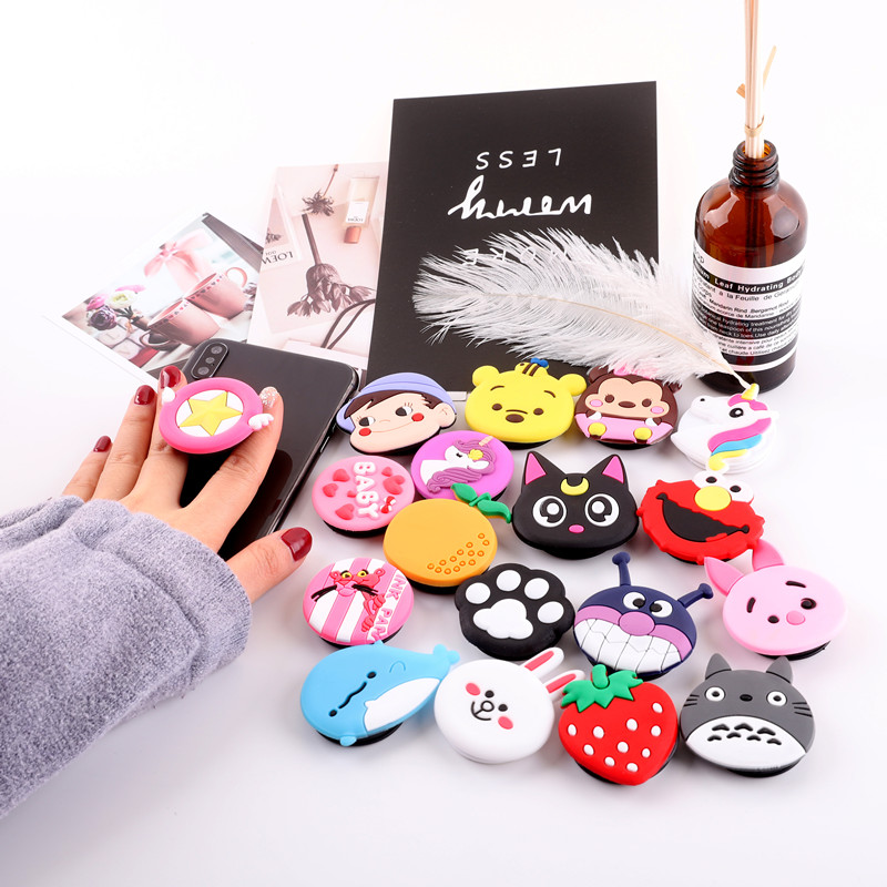 Finger Ring Holder Universal Cute 3D Cartoon Animal Smartphone Holder Stand Expanding Grip Stretch Cell Phone Ring For IPhone 6s