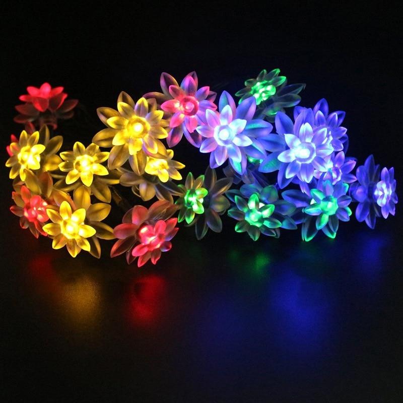 Feimefeiyou 2m 20 LED String Lights AA Battery LED Flower Fairy Lights String For New Year's Christmas Day Lighting