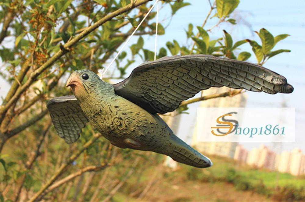 Flying Bird Hawk For Pigeon Decoy Garden Plant Scarer Pest Control Hunting Shooting