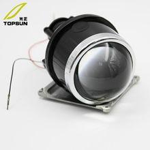 2x Универсальный HID Биксеноновая 2,5 дюймов/3 дюймов Противотуманные фары объектив проектора для вождения лампы модернизации