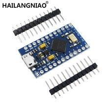 5 sztuk Pro Micro ATmega32U4 5 V/16 MHz moduł z 2 rzędami głowica pinowa MINI USB MICRO USB