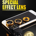Macro grande Angular de 198 Graus Lente Olho de Peixe 3in1 LEVOU luz do Flash Para lg g2 g3 g5 telefone g4c lentes para lenovo p780 s850 p90 vibe k5