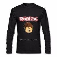 Roblox Camisas do T Dos Homens Homem Outono O-pescoço Manga Longa T-shirt Roupas de Adultos Engraçado Tshirts Por Atacado Baratos Tops
