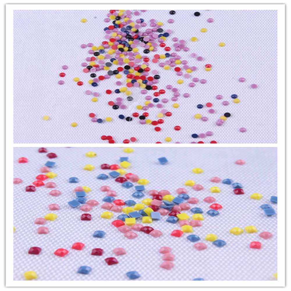 الدب تحت الجبل 50X40 3D DIY الماس اللوحة 100% كامل مربع الحفر عبر غرزة التطريز الراين المنزل decoratio