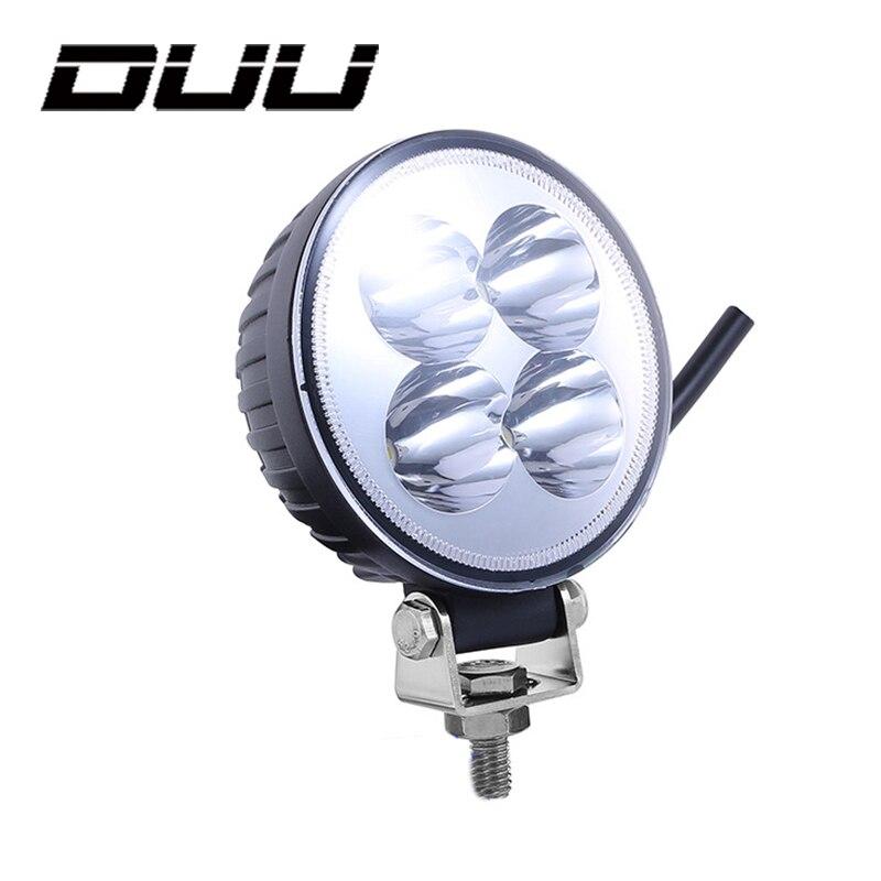 DUU 3 дюймов 12 Вт Водонепроницаемый внедорожнике светодиодный Spot свет работы Прожектор круглый Авто Мото тягач Boat Off road внедорожник Worklight La