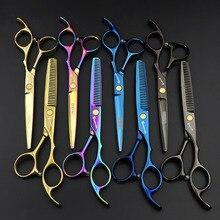 6 inch hair scissors for barbershop professional hairdressing barber scissors janpanses stainless steel shears berber makas