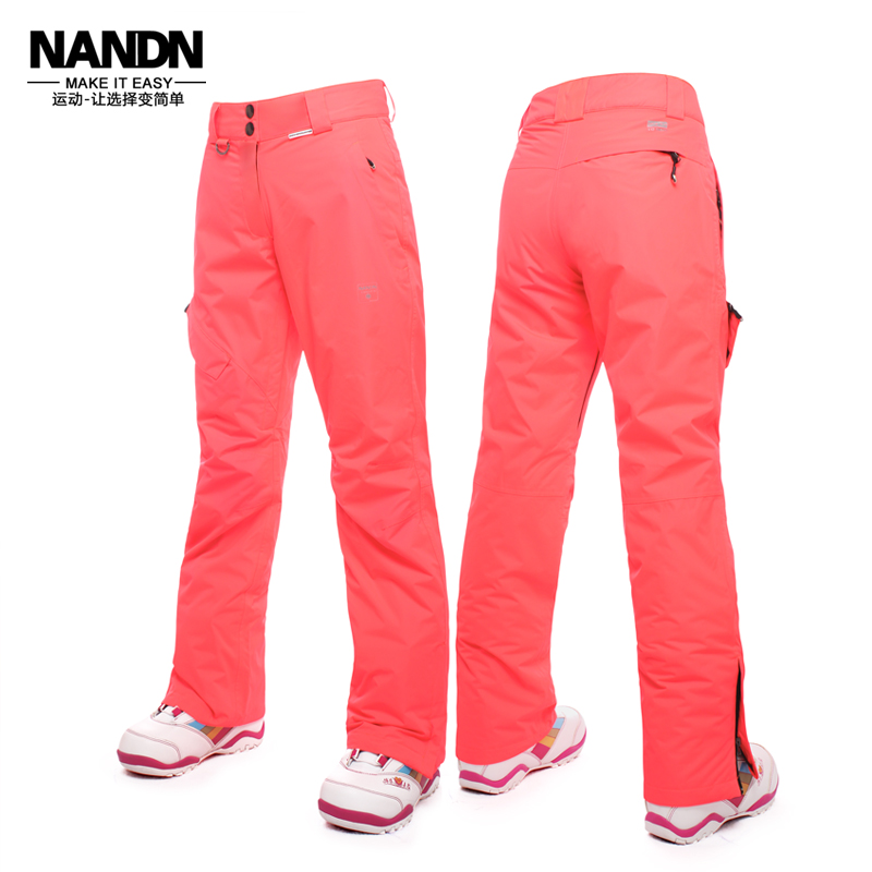 ФОТО Women Ski Pant NANDN Waterproof Skiing Pants Snowboard Pants Woman Breathable Windproof Winter Warm Trousers For Women WP1522