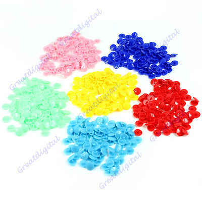 A96  200pcs/lot T5 Plastic Button Resin Snaps Fasteners Dummy Clips Press Studs New