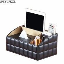 Съемная Роскошная офисная коробка для салфеток из искусственной
