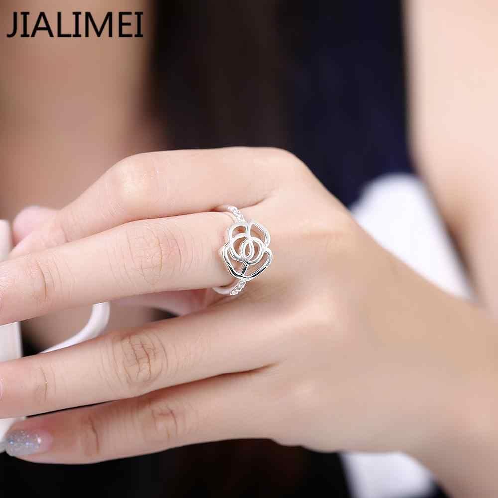 Commercio all'ingrosso gioielli coreano NUOVO progettista 925 argento anel feminino zirconia gemma sintetica anelli R686-8