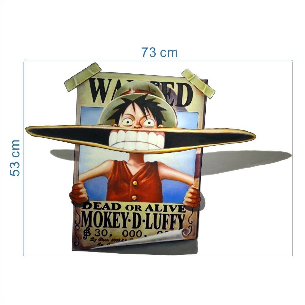 Ingin monkey d luffy stiker dinding untuk anak anak dekorasi kamar film one piece mural seni 3d rumah decal poster untuk anak hadiah di wall stickers dari