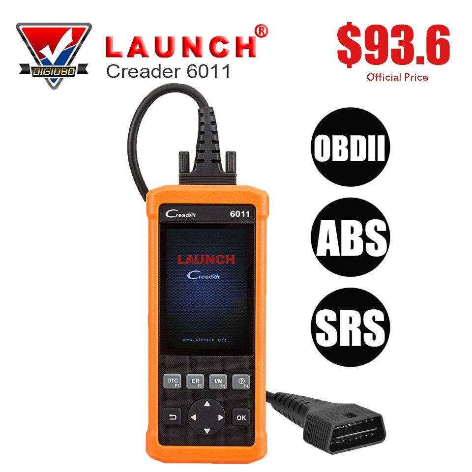 Launch CReader 6011 CR6011 OBD2 EOBD Scanner ABS SRS System Diagnostic Tool Car Engine Fault Code Reader Full OBDII Functions запустите creader vi obd2 obdii eobd code reader multi языки обновления на сайте
